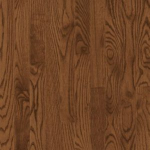 "Bruce Dundee Wide Plank ~ Red Oak Saddle 5""-0"
