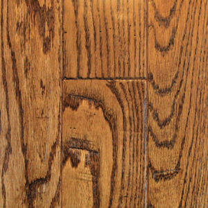 "Mullican Knob Creek Hand Sculpted Oak Saddle 4""-0"
