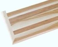 """Unfinished Hickory Stair Tread Reversible With Return 60""""-0"""
