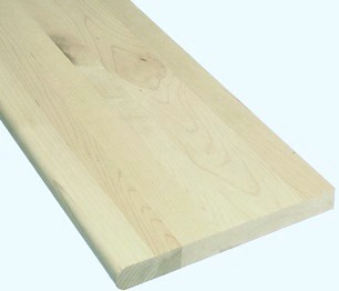 """Unfinished Maple Stair Tread 48""""-0"""