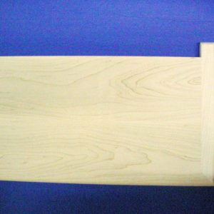 "Unfinished Maple Stair Tread Reversible With Return 42""-0"