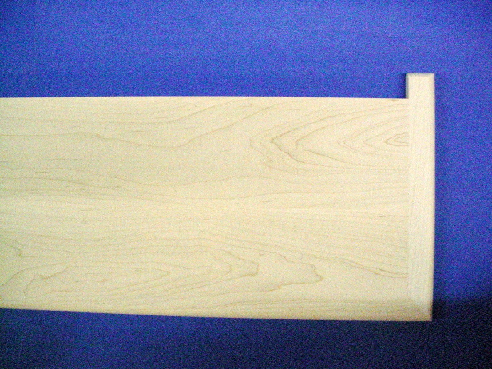 """Unfinished Maple Stair Tread Reversible With Return 48""""-0"""