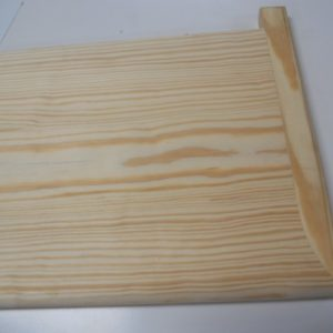 "Unfinished Yellow Pine Stair Tread 48"" W/RH Rtn.-0"