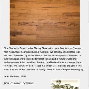 "UA Floors Olde Charleston Wormy Chestnut 5 1/2""-0"