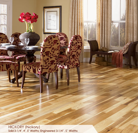 """Somerset Character Collection Engineered Hickory Natural 3 1/4""""-0"""