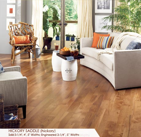 """Somerset Character Collection Engineered Hickory Saddle 5""""-0"""