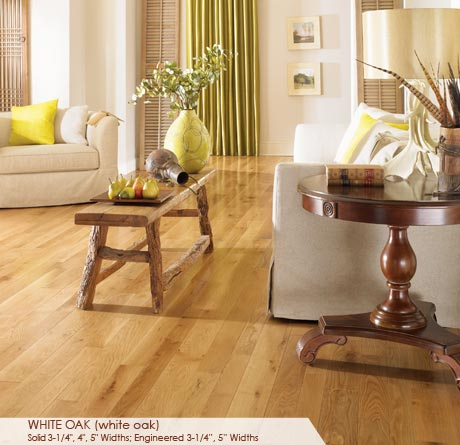 """Somerset Character Collection Engineered White Oak Natural 3 1/4""""-0"""