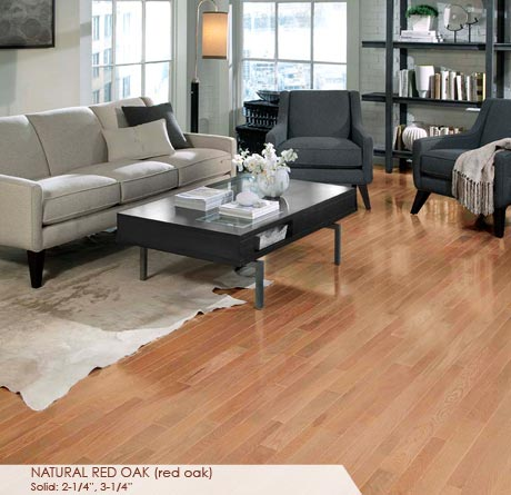 """Somerset Homestyle Solid Red Oak Natural 2 1/4""""-0"""