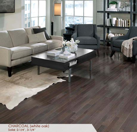 """Somerset Homestyle Solid White Oak Charcoal 2 1/4""""-0"""