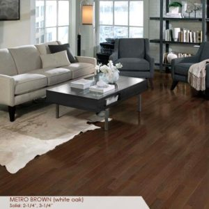 "Somerset Homestyle White Oak Metro Brown 3 1/4""-0"