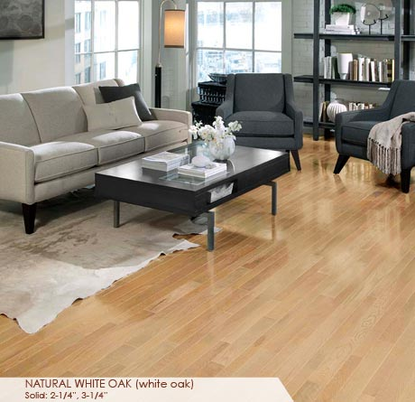 """Somerset Homestyle Solid White Oak Natural 2 1/4""""-0"""