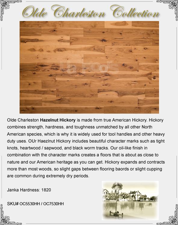 Ua Floors Olde Charleston Engineered Hickory Hazelnut 7 1