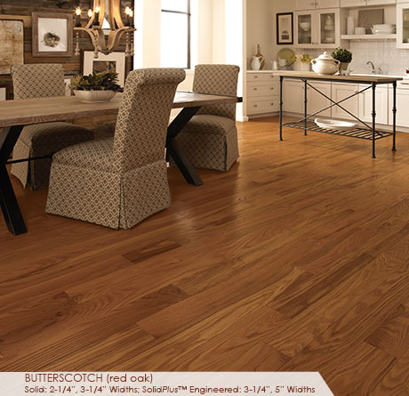 "Somerset Classic Collection Engineered Red Oak Butterscotch 3 1/4""-0"