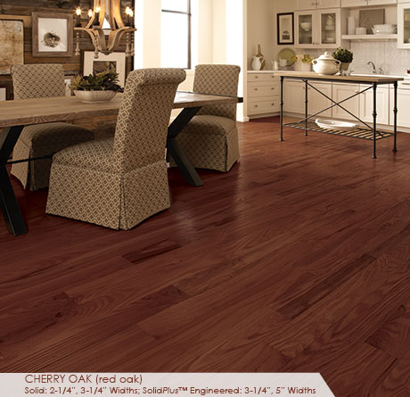 """Somerset Classic Collection Solid Red Oak Cherry 3 1/4""""-0"""