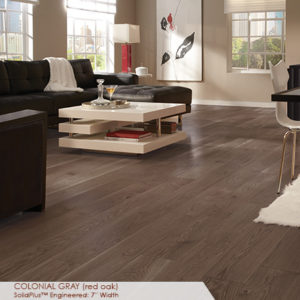 "Somerset Wide Plank Collection Engineered Red Oak Colonial Grey 7""-0"