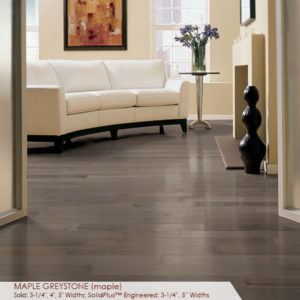 "Somerset Specialty Plank Collection Maple Greystone 2 1/4""-0"