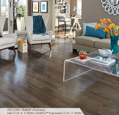 """Somerset Character Collection Engineered Hickory Ember 3 1/4""""-0"""