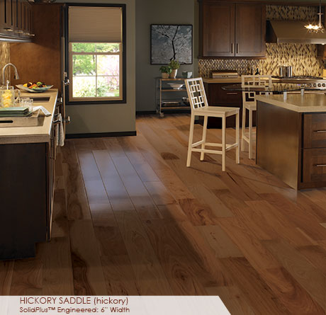 """Somerset Wide Plank Collection Engineered Hickory Saddle 6""""-0"""