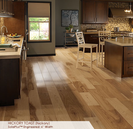 "Somerset Wide Plank Collection Engineered Hickory Toast 6""-0"