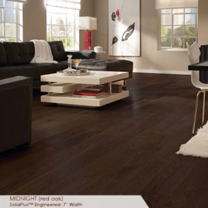 "Somerset Wide Plank Collection Engineered Red Oak Midnight 7""-0"