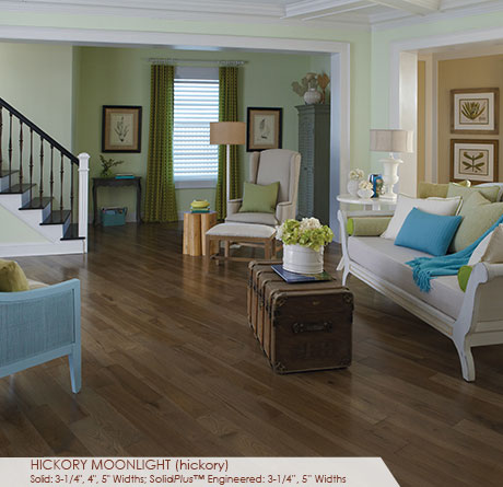 "Somerset Specialty Plank Collection Hickory Moonlight 3 1/4""-0"