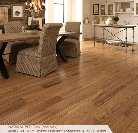 "Somerset Classic Collection Engineered Red Oak Natural 3 1/4""-0"