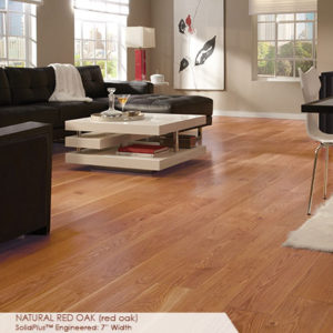 "Somerset Wide Plank Collection Engineered Red Oak Natural 7""-0"