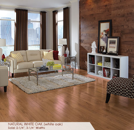 "Somerset Color Collection White Oak Natural 4""-0"