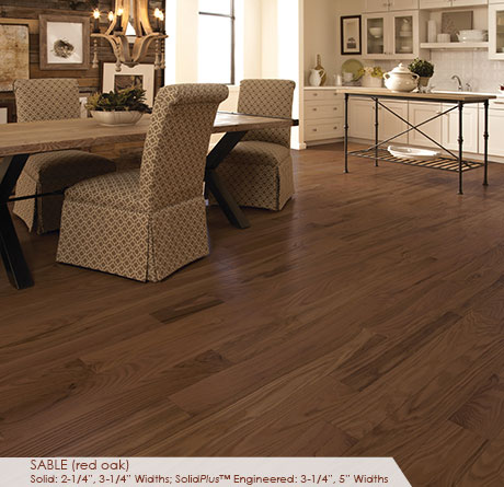 "Somerset Classic Collection Engineered Red Oak Sable 5""-0"