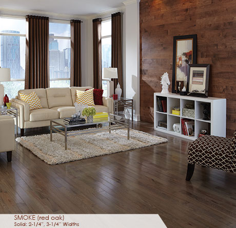 "Somerset Color Collection Engineered Red Oak Smoke 5""-0"