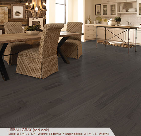 "Somerset Classic Collection Solid Red Oak Urban Grey 2 1/4""-0"