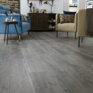 "- Iron Mannington Coal Max Adura Hill 6"" Plank FMH Flooring"