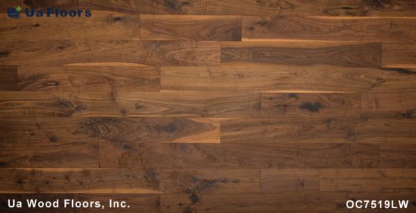 """- FMH Olde Leathered Flooring 7 1/2"""" Walnut UA Charleston Floors Engineered"""