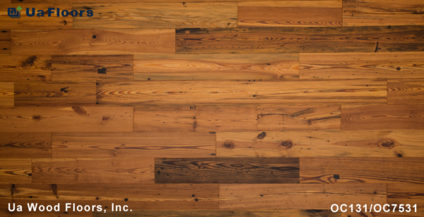 "- Charleston Flooring Floors Heart 7-1/2"" Reclaimed FMH Olde UA Pine"